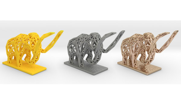 3D mammoth extinct elephants model