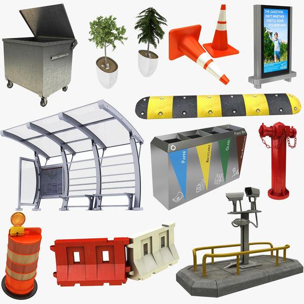 street elements 11 1 3D model