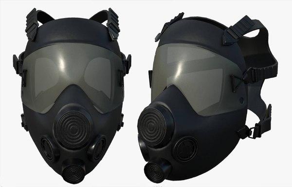 3D model helmet mask