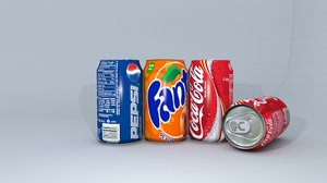 soda drinks cans model