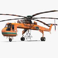 sikorsky s-64 skycrane helicopter model
