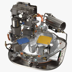 3D model turboshaft engine fuel shaft