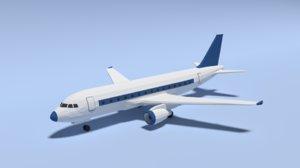 3D airbus a320 airplane