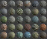30 Various Bare Metal Surfaces PBR