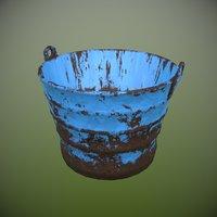 rusty metal bucket 3D model