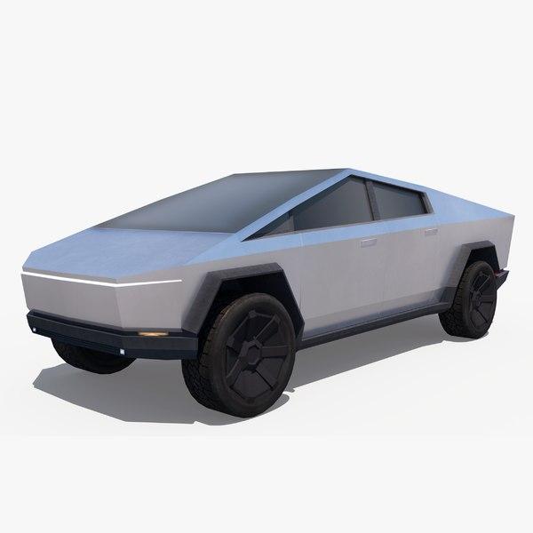 tesla cybertruck vehicle 3D model