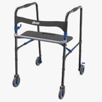 3D wheeled walking aid