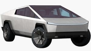 tesla cybertruck 2020 opening 3D model