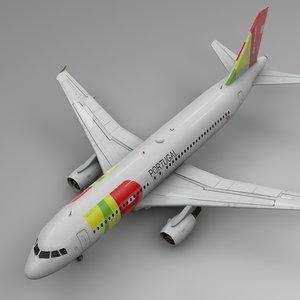 tap airbus a320 l500 3D model