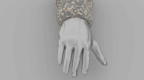 rigged hand arm model