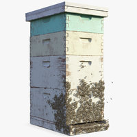 painted beehive brood box model