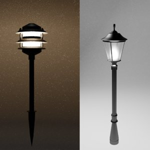 3D streets lamps model