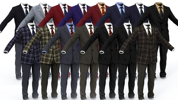 3D business suit man