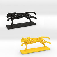 3D cheetah cat wild model