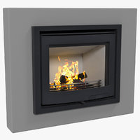 fireplace insert contura i5 3D model