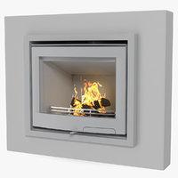 3D model fireplace insert generic