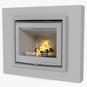 3D model fireplace insert generic