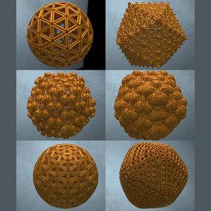 complex abstract shapes 3D model