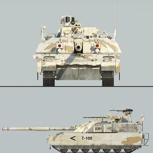 t-100 tank model