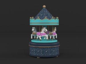 carousel music box 3D model