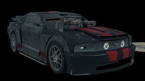 3D mustang death race car model