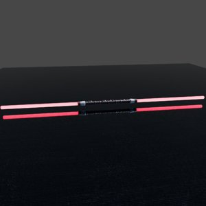 3D lightsaber darth maul