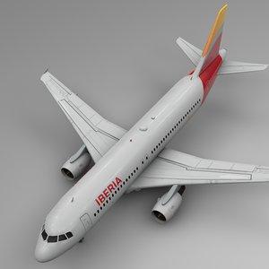 3D iberia airbus a320 l501