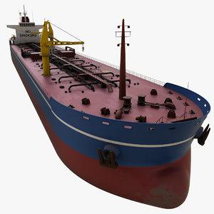 realistic oil tanker ship 3D model