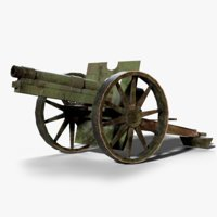 fk 96 cannon ww1 3D model