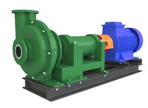 centrifugal water pump 3D