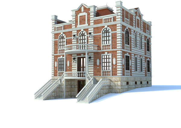 3D house architecture building model