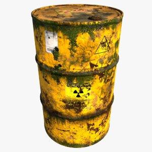 barrel radioactive model
