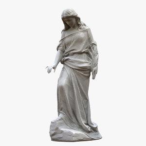 woman branch statue model