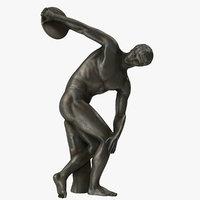 discobolus myron bronze 3D model