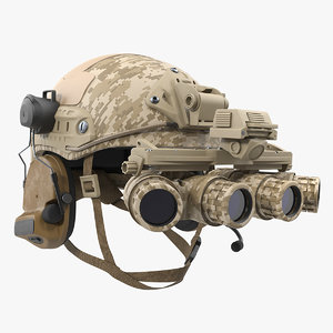 tactical helmet digital camo 3D model