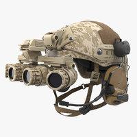tactical helmet digital camo 3D