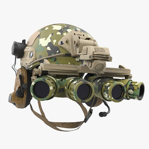 3D tactical helmet digital woodland camo