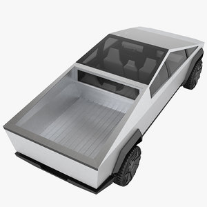 3D tesla cybertruck truck model