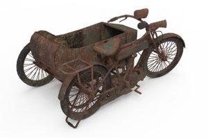 motorbike motorcycle vehicle 3D model