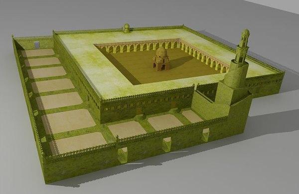ibn tulun mosque 3D model