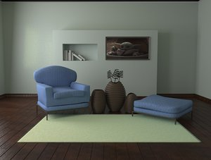 sofa room live model