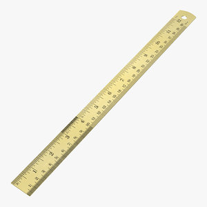 brass ruler 3D