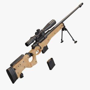 3D model l115a3 sniper rifle