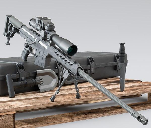rifle sniper 3D model