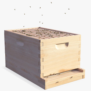 3D model brood box cedar 8