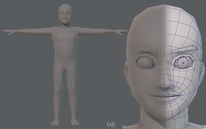 base mesh man character model