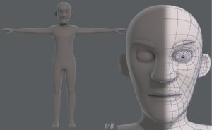 base mesh old man 3D model