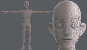 base mesh man character 3D model