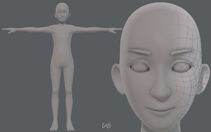 base mesh man character 3D
