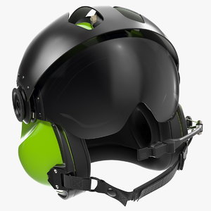 evolution 252 flight helmet 3D model
